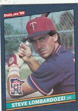 FREE SHIPPING-MINT-1986 DONRUSS #598 STEVE LOMBARDOZZI TWINS PLUS BONUS CARDS