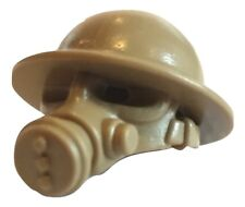 British Gas Mask with Helmet WWII for Lego Minifigures accessories