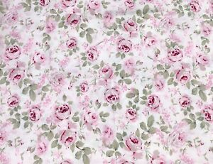 """Simply Shabby Chic Rosalie Curtain Panel Roses Pink Floral 54"""" x 68"""" (cut edge)"""