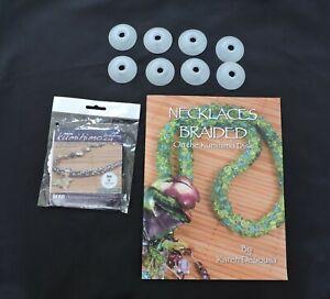 Kumihimo Braiding Kit  Mini Kumihimo Disk, 8-Plastic Bobbins & Kumihimo Book