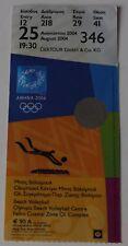 Ticket Olympic Athens 2004 Beach Volleyball FINAL Rego Santos Brazil vs Spain