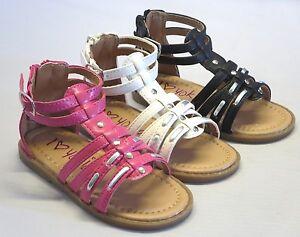 Girl Dress Sandals Gladiator (bella28) TODDLER Black White Pink