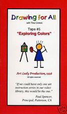 Drawing Video VHS Exploring Colors Tina Cintron CP6157 NEW
