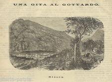 GOTTARDO_CANTON TICINO_BIASCA_ANTICA VEDUTA DELL'800_DA COLLEZIONE_AIROLO