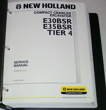 New Holland E30BSR E35BSR Crawler Excavator Service Manual