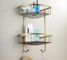 Antique Double Shower Caddy Shelves Storage Corner Rack Holder Organizer Basket
