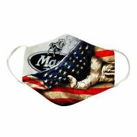 Mack trucks logo Inside American flag Face Mask Reusable Washable Fits All Size