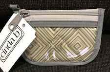Cinda b ID and Key Pouch in French Linen - NWT!