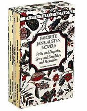 Favorite Jane Austen Novels: Pride and Prejudice, Sense and Sensibility and Pers