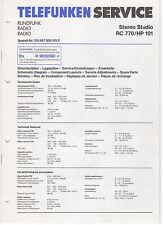 Service Manual Telefunken Rundfunk Stereo Studio RC770 HP101 (144)