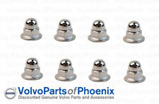 Genuine Volvo License Plate Mounting Nut Chrome Acorn Metric 6mm 8 pack NEW OEM
