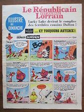 LE REPUBLICAIN LORRAIN ILLUSTRE DU DIMANCHE 11 UDERZO GREG MORRIS GRATON... 1967