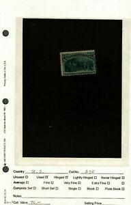 US Stamp Scott #238 used