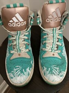 Adidas D Rose Boost 6 Mint Green Crystallized Sz 10 Us