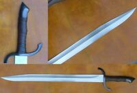 """AWESOME-25"""" HIGH CARBON STEEL HUNTING WILD SWORD WITH LEATHER SHEATH"""