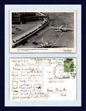 AVIATION LA GUARDIA REAL PHOTO 23 JULY 1940 TO STELLA LOEB, TERRE HAUTE, INDIANA