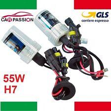 Coppia lampade bulbi kit XENO xenon H7 55w 5000k 12v lampadina luce HID ricambio