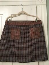NWT J Crew Houndstooth Skirt Size 16