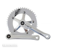 "NEW Sugino MESSENGER RD-2 Single Speed Track Crankset 46T 165mm 1/8"" SILVER"