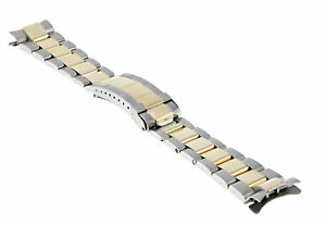 20MM 18K/SS OYSTER WATCH BAND STRAP FOR ROLEX SUBMARINER GOLD THROUGH BUCKLE