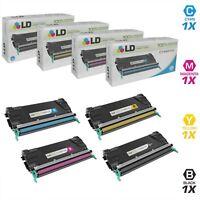 LD Remanufactured Lexmark C746/C748 4PK: C746H1KG/C746A1CG/C746A1MG/C746A1YG