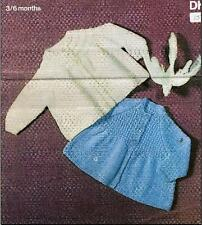 "Vintage Knitting Pattern 2 Matinee Coats in DK 19"" Chest 3-6 Months 67"