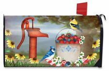 Berry Bounty Spring Magnetic Mailbox Cover Waterpump Floral Standard