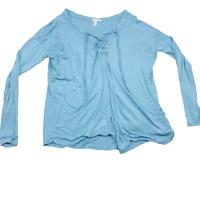 Victoria's Secret Pink Super Soft Long Sleeve, Front Tie / Strings Shirt, Medium