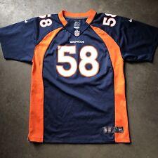 Nike Team On Field Denver Broncos Von Miller Home Navy Blue Jersey Sz Youth XL