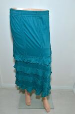 Women's Full Length Blue Long Fit Women's Girls Viscose Casual Formal Skirt