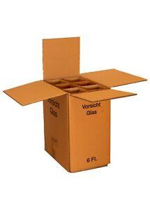 Flaschenkarton Weinkarton für 6 Flaschen Weinversandkarton Faltkarton Karton