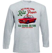 Vintage Italienische Auto Lancia Fulvia Coupe-NEU Baumwolle T-Shirt