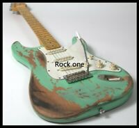 Heavy Relic Electric Guitar Alder Body Nitrolacquer Stain Finish Vintage Tuner