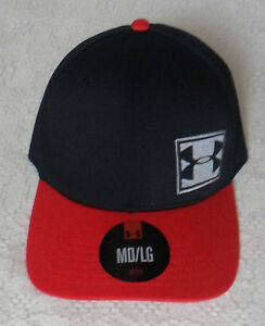 AUTHENTIC UNDER ARMOUR BASEBALL CAP (BLACK / RED)