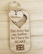PERSONALISED MILITARY ARMY SOLDIER KEYRING KEEPSAKE 10% HELP FOR HEROES DONATION