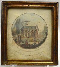 RARE GRAVURE XVIIIè Laurent GUYOT Chapelle de l'Hermitage PERNET cadre 18,5x16,2