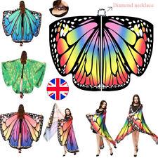 UK Butterfly Wings Cape Shawl Adult Fairy Pixie Cloak Costume Fancy Dress Party