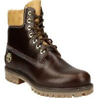 """TIMBERLAND A1QNA MEN'S ICON 6"""" BROWN PREMIUM WATERPROOF BOOTS size 7.5"""