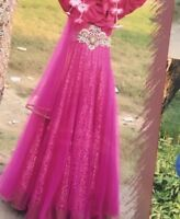 Asian/ Party/Indian /Pakistani /Prom Dress Size 8 WORN ONCE