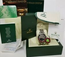 Rolex GMT Master II 16710 Stainless Steel F serial Watch w Box Papers
