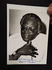"1987 - 5""x 7"" Black & White Photo signed - Desmond Tutu - Archbishop of Capetown"