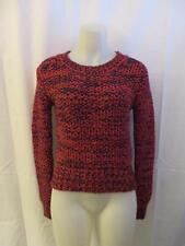 NWT WOMENS J.O.A. RED & NAVY BLUE SWEATER TOP SIZE XS