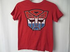 Old Navy Boys Collectibilitees T Shirt Short Sleeve Transformers Red Sm  #7436