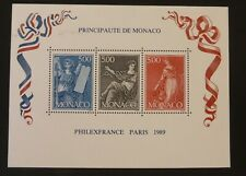 Monaco 1989 Philexfrance Paris Mini Sheet (MNH)