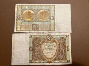 Polish PLN50 Interwar Banknotes 1929
