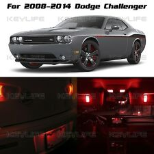 6x Red LED Light Interior Bulbs Package For 2008 - 2014 Dodge Challenger