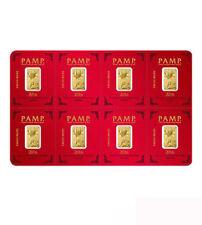 Goldbarren Multigram Pamp Suisse 8 x1 g .9999 Gold Lunar Motiv Affe Monkey 2016