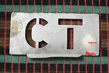 London Transport GARAGE CODE STENCIL PLATE for CLAPTON ( CT )