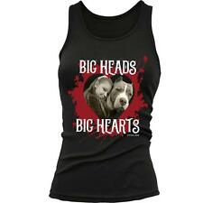"""Pit Bull Gear """"Big Heads Big Hearts"""" Women's Fitted Graphic Tank New"""