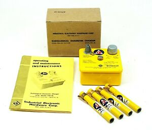 CDV-750-MODEL 5B Radiological Dosimeter Charger w/ Manual , 4 CDV-742 Pens, Box